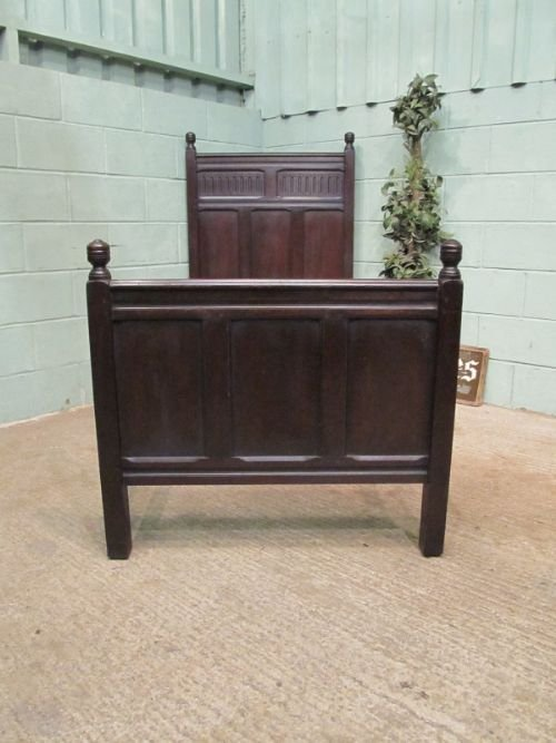 antique early victorian solid oak single bed c1850 wemd91