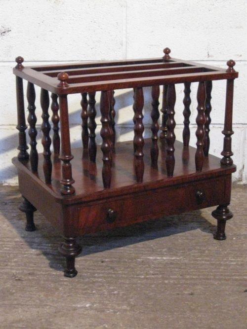 superb antique william 1v mahogany canterbury c1820