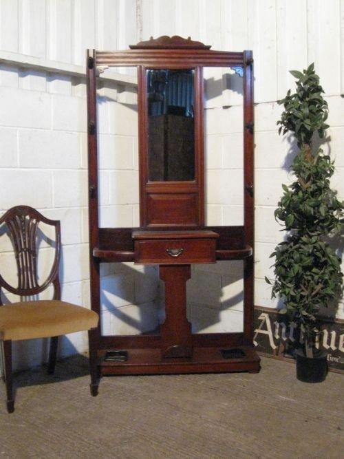 antique late victorian mahogany hallstand c1890
