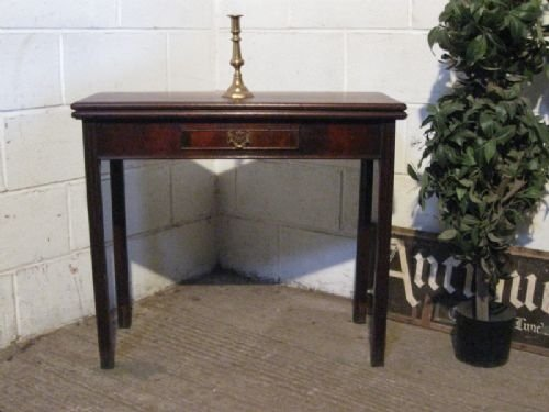 lovely antique georgian mahogany fold over tea side table c1780