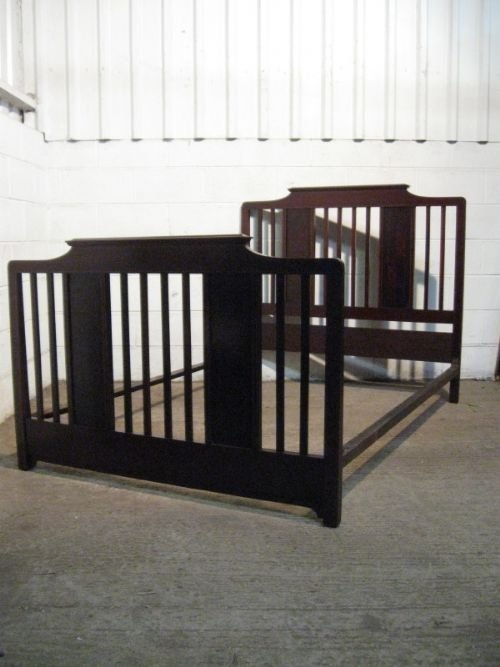 superb quality antique edwardian mahogany double bedstead c1900