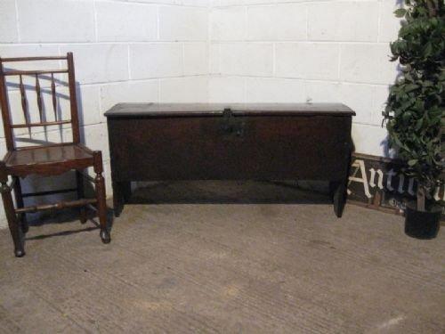 antique cromwellian oak chest sword box c1640