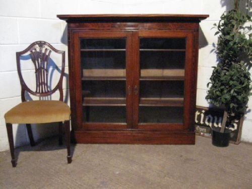 lovely original antique georgian oak mahogany glazed bookcase c1780