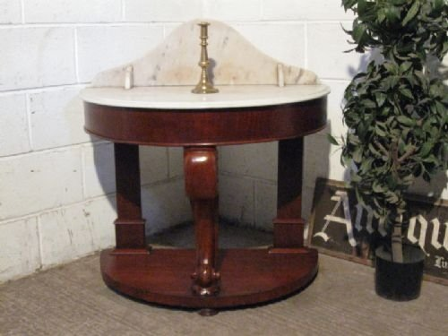 antique victorian duchesse marble mahogany washstand table c1860