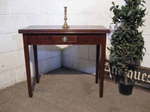 lovely antique regency mahogany foldover side tea table c1800