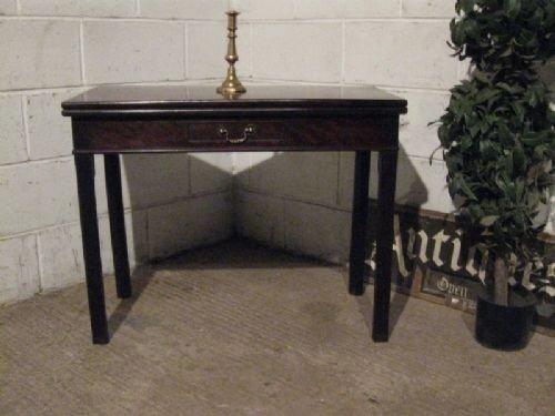 antique georgian mahogany fold over table c1780 wdb130271