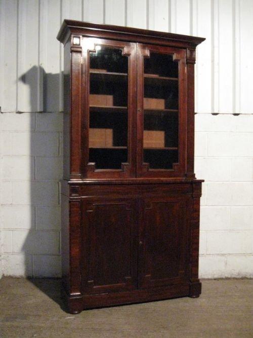 antique william 1v mahogany library bookcase c1820 wdb35043