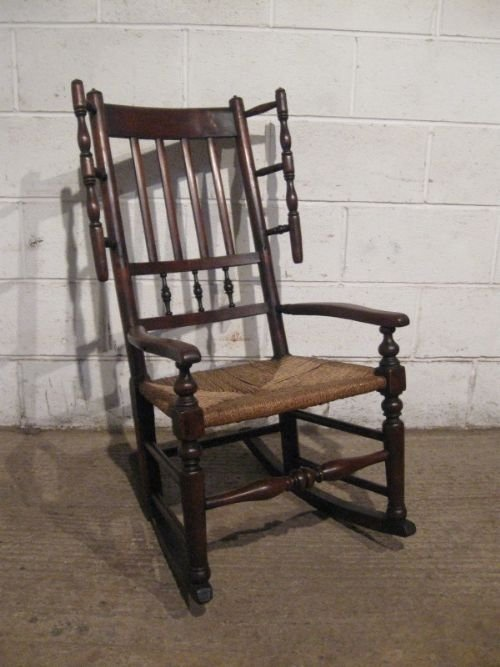 spindle back rocking chair antique 1
