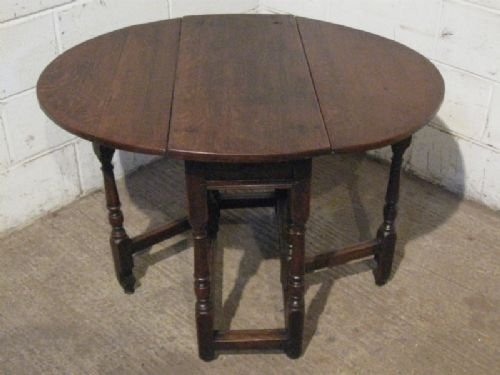 Small Antique James 11 Country Oak Peg Joined Drop Leaf Gate Leg Dining  Table C1680 Wdb14054