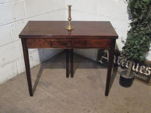 antique georgian mahogany fold over tea table c1780 ewprv12075