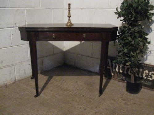 antique regency mahogany fold over tea table c1800 wdb477396