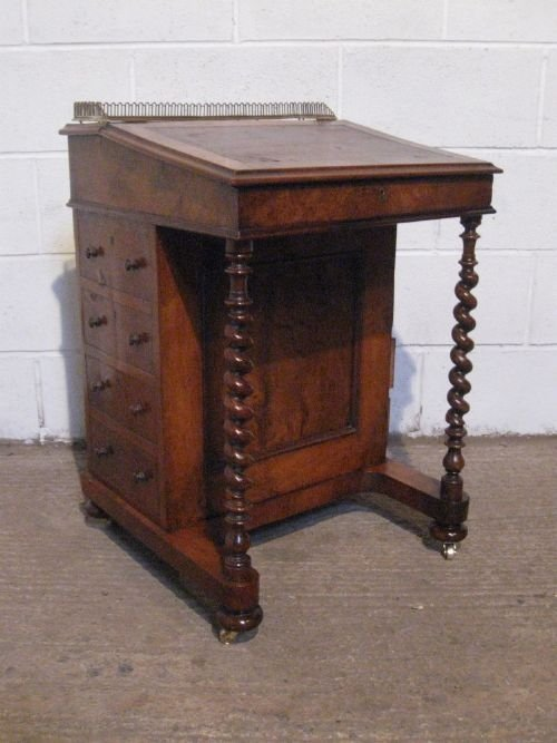 gorgeous antique victorian walnut davenport desk with secret drawers c1860  wdb4880226 - Gorgeous Antique Victorian Walnut Davenport Desk With Secret