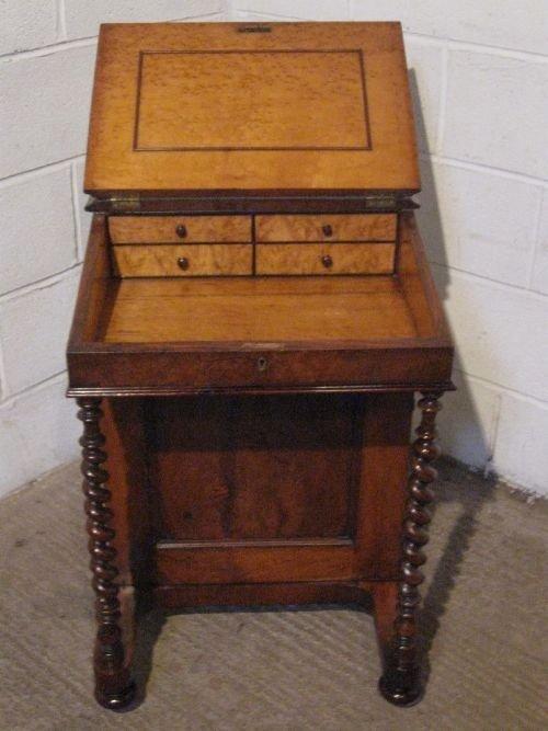 Gorgeous Antique Victorian Walnut Davenport Desk With