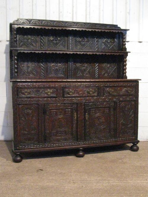antique georgian carved oak dresser sideboard c1780 wdb6012139