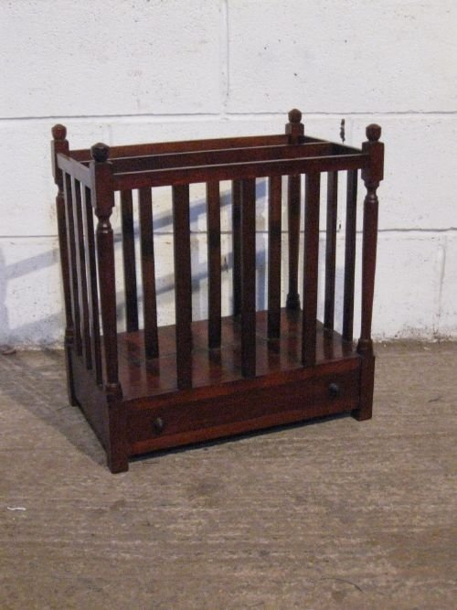 antique victorian mahogany canterbury bookcase c1880 wdb4948139