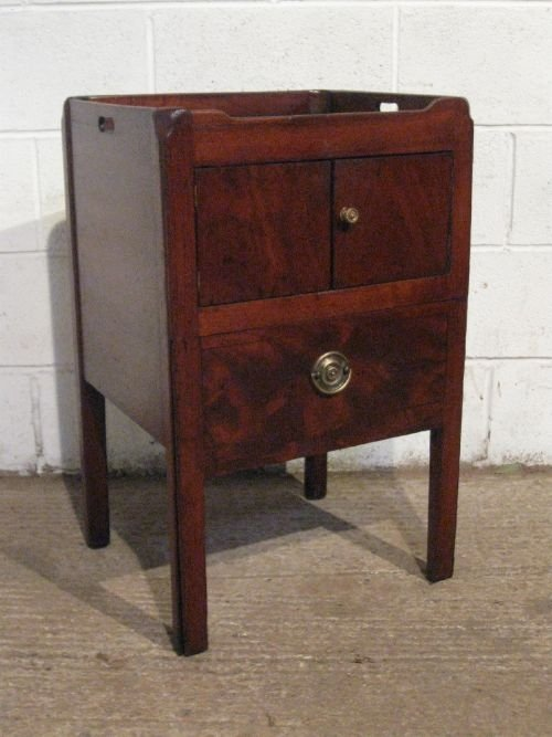 antique georgian mahogany night stand pot bedside cupboardcabinet c1780 wdb5998209