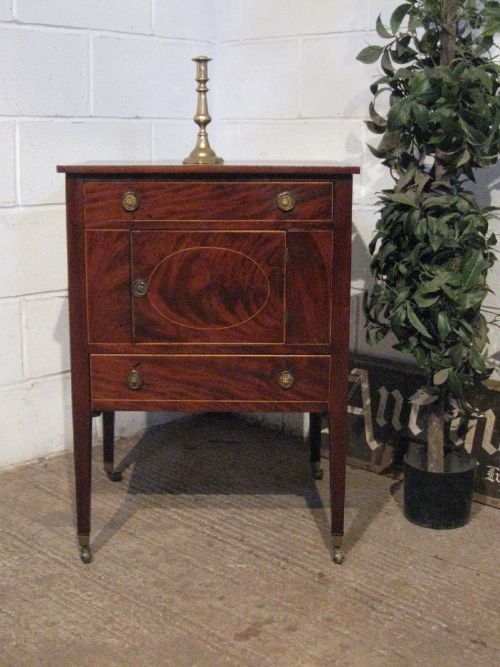 lovely antique regency mahogany small cabinet night stand or pot cupboard  bedside cabinet c1800 wdb6033209 - Lovely Antique Regency Mahogany Small Cabinet Night Stand Or Pot
