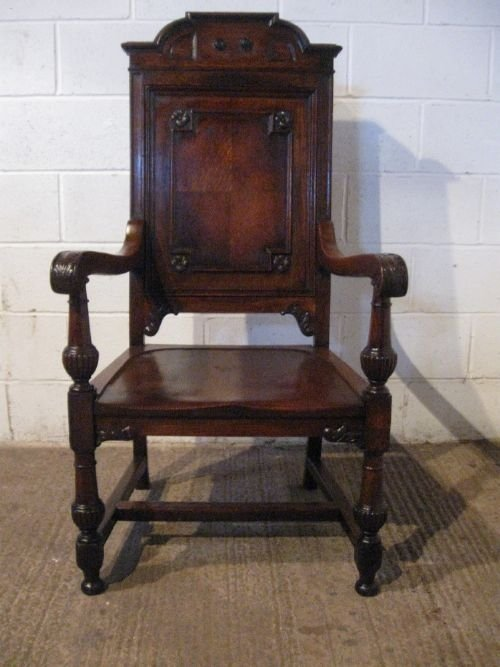 antique victorian carved oak throne chair c1870 wdb6004209 - Antique Victorian Carved Oak Throne Chair C1870 Wdb6004/20.9 89396