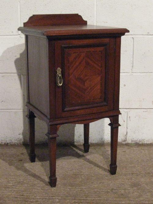 antique edwardian mahogany bedside cabinet pot cupboard c1900 wdb6019279