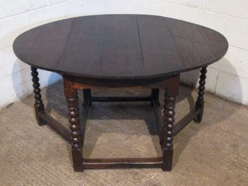 antique james 11 period country joined oak gate leg dining table c1660 wdb48831210