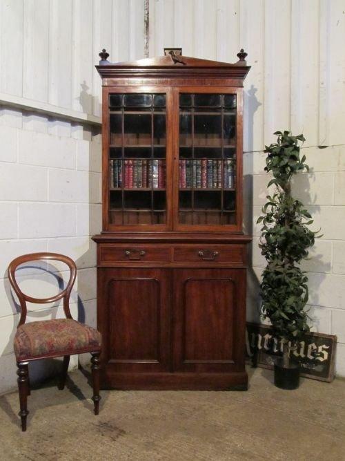 antique william 1v mahogany library bookcase c1820 wdb61422211