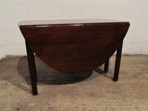 Antique Georgian Mahogany Drop Leaf Gate Leg Dining Table Wdb4640 972