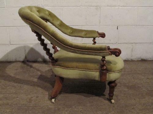 gorgeous antique victorian walnut tub chair c1880 wdb61632911