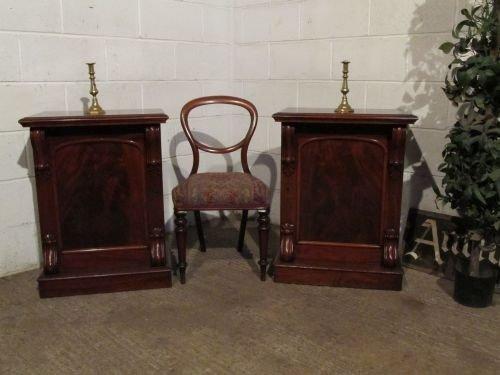 antique pair victorian mahogany cabinets bedside c1880 wt6202a1312