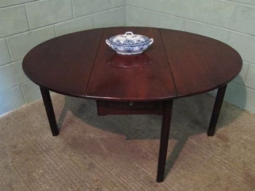 Antique Georgian Mahogany Drop Leaf Gate Leg Dining Table C1780 104485 Se