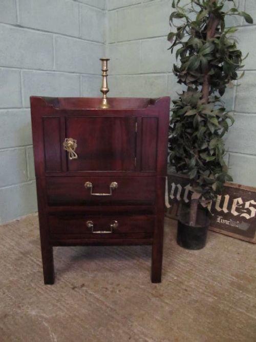 antique georgian mahogany bedside cabinet pot cupboard c1780 623372