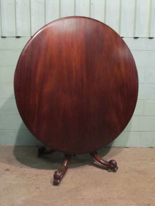 antique victorian mahogany tilt top breakfast dining table c1860 w6290143