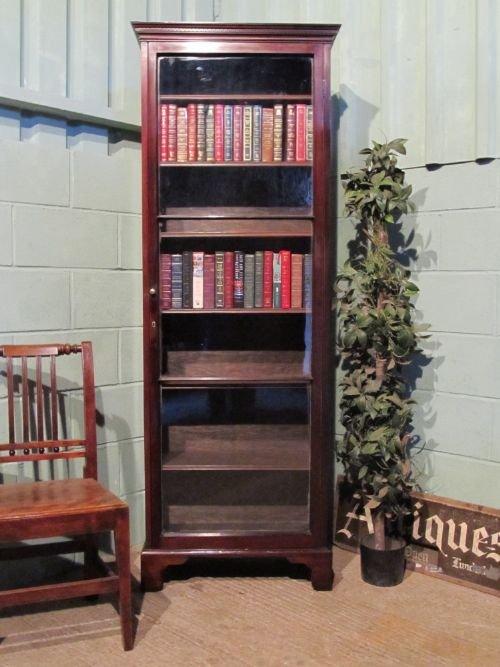 narrow mahogany bookcase 3