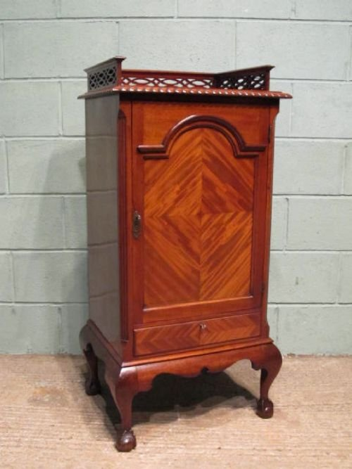 antique edwardian mahogany side cabinet or music cabinet c1900 w633244