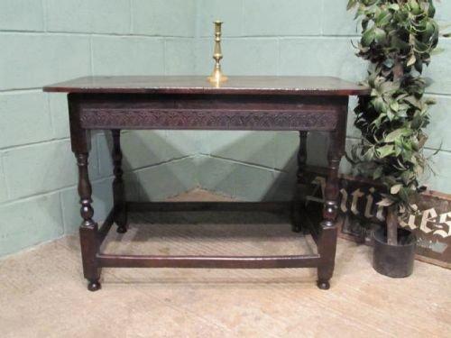 antique early georgian joined oak side table c1720 w634344