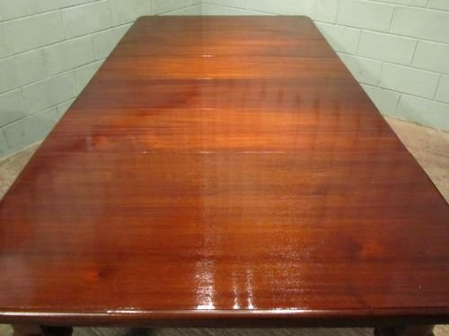 antique large victorian mahogany extending dining table seats 6 to 16 people c1850 w6410264