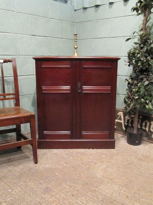 antique victorian mahogany cupboard cabinet c1880 w6469206
