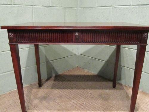 antique edwardian mahogany side writing table c1900 w6470206