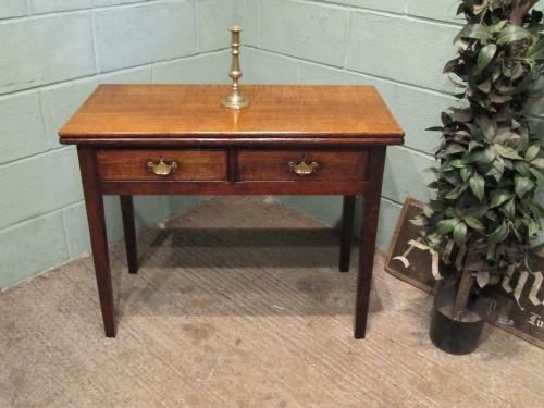 antique georgian oak fold over tea side table c1780 w6501276