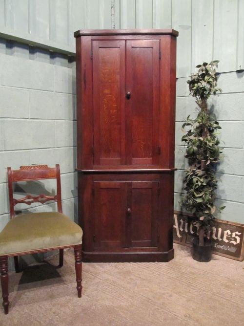 antique william 1v oak full height corner cupboard cabinet c1830 w6541158