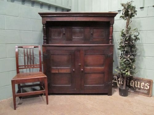 antique early 18th century country oak court cupboard c1720 w6563308