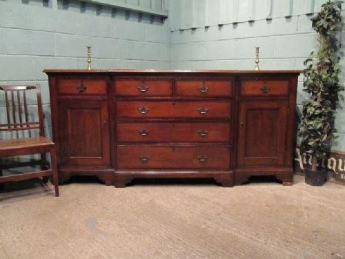 antique georgian oak mahogany breakfront sideboard c1780 w6600310