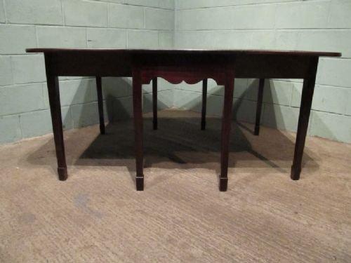 Antique Large Victorian Mahogany Gate Leg Drop Leaf Dining Table C1880 W6663