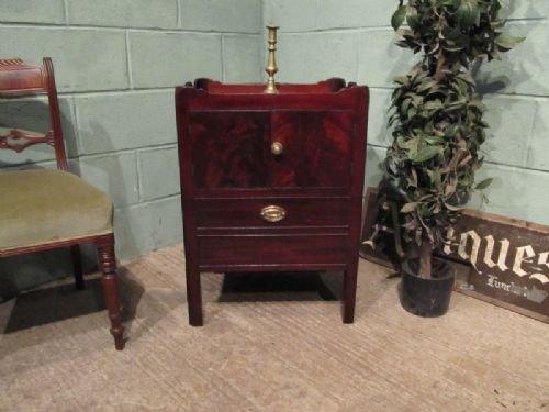 antique georgian mahogany tray top cabinet cellarette c1780 wm1