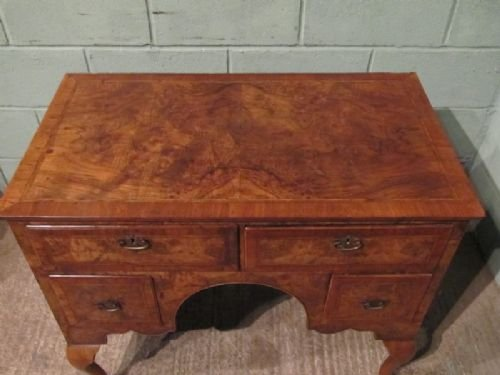 antique georgian walnut lowboy c1780 6685112 - photo angle #4