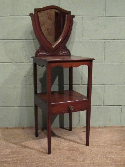 antique edwardian mahogany mirror back gentlemans washstand c1900 w66871212