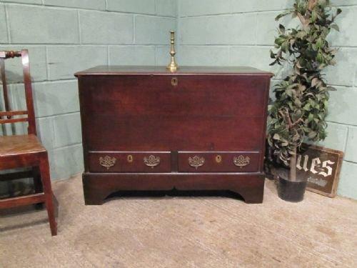 antique georgian 18th cent oak mule chest c1780 w67202712