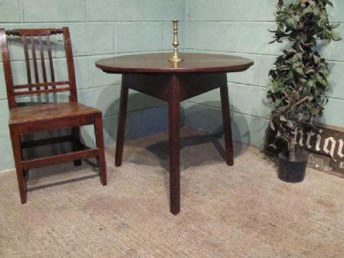 antique georgian oak drop leaf cricket table c1780 w67142712