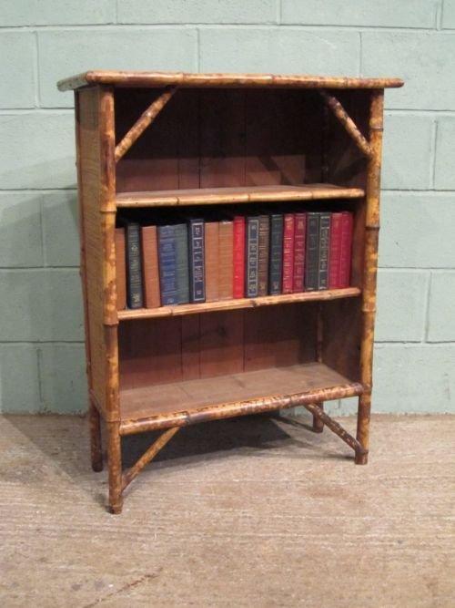 antique edwardian bamboo   rattan bookcase c1900 w6729  9 1 rattan furniture bookshelves Rattan Foot Stool