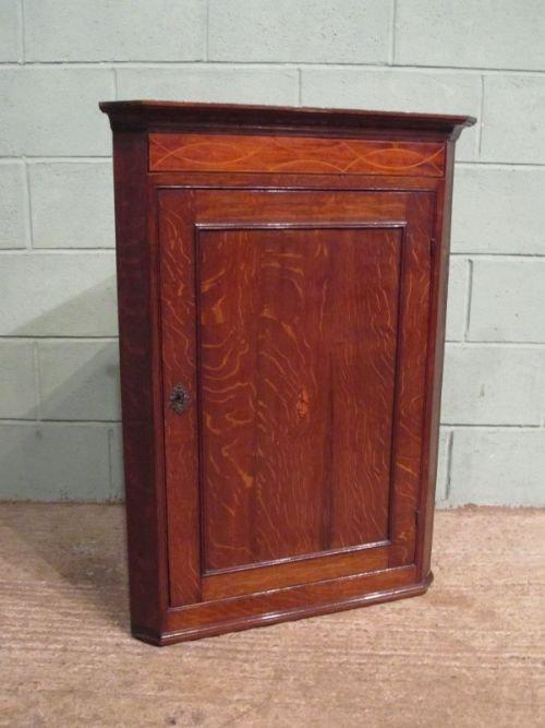 antique georgian oak mahogany corner cupboard c1780 w6750161