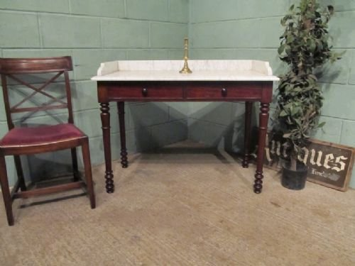 antique william 1v mahogany carrera marble washstand c1830 w677862